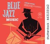 blue jazz music | Shutterstock .eps vector #663133162