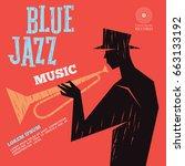 blue jazz music | Shutterstock .eps vector #663133192