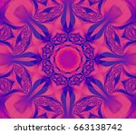 Abstract Kaleidoscope Purple...