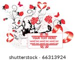 greeting card with a heart.... | Shutterstock .eps vector #66313924