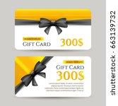 gift card with golden element... | Shutterstock .eps vector #663139732