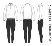 vector templates of clothing... | Shutterstock .eps vector #663139942