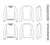 vector templates of clothing... | Shutterstock .eps vector #663140542