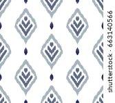 ikat seamless pattern. fancy...   Shutterstock .eps vector #663140566