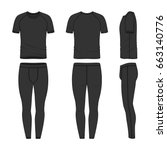 vector templates of clothing... | Shutterstock .eps vector #663140776