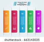 3d infographic design template... | Shutterstock .eps vector #663143035