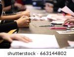 clerk office guys do a job... | Shutterstock . vector #663144802