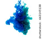 colors dropped into liquid and... | Shutterstock . vector #663145138