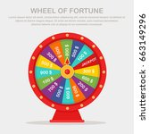 color spinning fortune wheel... | Shutterstock .eps vector #663149296