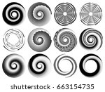 abstract geometric art with...   Shutterstock .eps vector #663154735