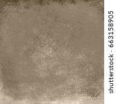 brown designed grunge... | Shutterstock . vector #663158905