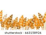 vector flat seamless pattern of ... | Shutterstock .eps vector #663158926