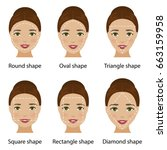set of different types of woman ... | Shutterstock . vector #663159958
