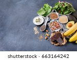 healthy food nutrition dieting... | Shutterstock . vector #663164242