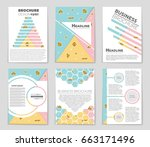 abstract vector layout... | Shutterstock .eps vector #663171496