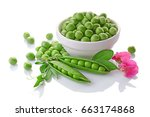 Healthy Food. Fresh Green Peas...