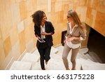 shot of two smiled... | Shutterstock . vector #663175228
