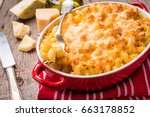 mac and cheese  american style... | Shutterstock . vector #663178852