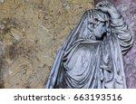 Cemetery Woman Statue