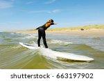 young teenage girl having ... | Shutterstock . vector #663197902