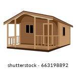 wood hut vector design | Shutterstock .eps vector #663198892