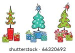 set object    christmas trees... | Shutterstock .eps vector #66320692