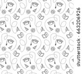 vector seamless pattern.with... | Shutterstock .eps vector #663206926