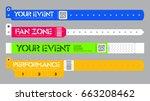 set of bracelets for live... | Shutterstock .eps vector #663208462
