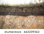 the layers of the earth in a... | Shutterstock . vector #663209362