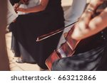 Woman Playing The Double Bass