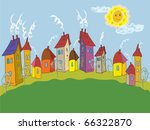cartoon landscape with colorful ... | Shutterstock .eps vector #66322870