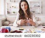 handmade earrings making  home...   Shutterstock . vector #663230302