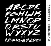 graphic font for your design.... | Shutterstock .eps vector #663230812