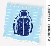 sport coat doodle | Shutterstock .eps vector #663235846