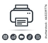 printer icon. print documents... | Shutterstock .eps vector #663239776