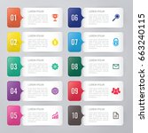 infographic template 10 options | Shutterstock .eps vector #663240115
