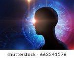 Silhouette Of Virtual Human On...