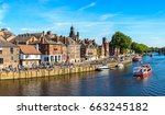 Panorama Of River Ouse In York...