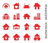 real estate icons set. set of... | Shutterstock .eps vector #663245416