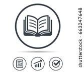 book icon. study literature... | Shutterstock .eps vector #663247648
