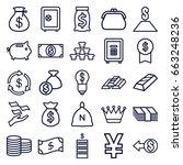 wealth icons set. set of 25... | Shutterstock .eps vector #663248236