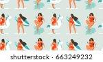 hand drawn vector abstract fun... | Shutterstock .eps vector #663249232