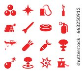 bomb icons set. set of 16 bomb... | Shutterstock .eps vector #663250912