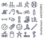 exercise icons set. set of 25... | Shutterstock .eps vector #663252892
