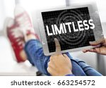 limitless time unlimited... | Shutterstock . vector #663254572