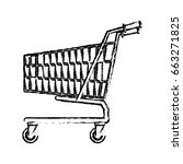 shopping cart market store... | Shutterstock .eps vector #663271825