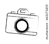 drawing photo camera picture... | Shutterstock .eps vector #663271855