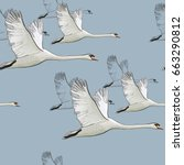 vector illustration of seamless ... | Shutterstock .eps vector #663290812