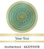 vector golden and teal mandala background wedding invitation