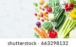 kitchen   fresh colorful... | Shutterstock . vector #663298132
